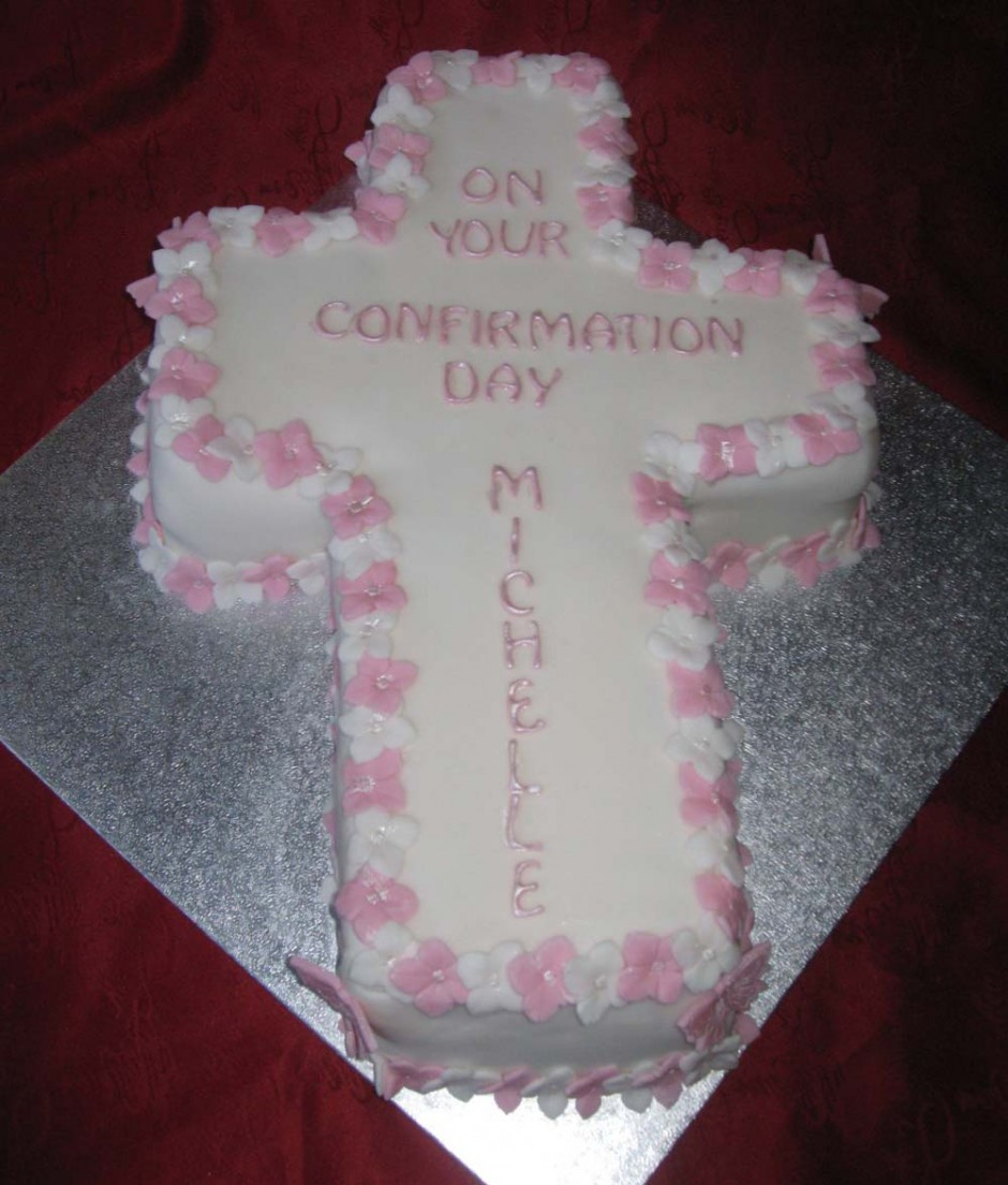 confirmation cross cakes