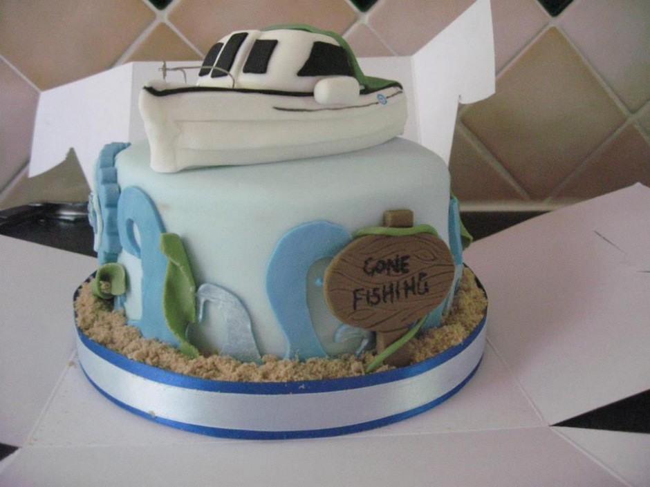 Fishing Themed Birthday Cake Wicklow