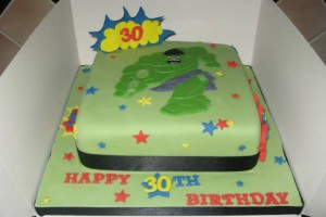 Incredible Hulk Birthday Cake Wicklow