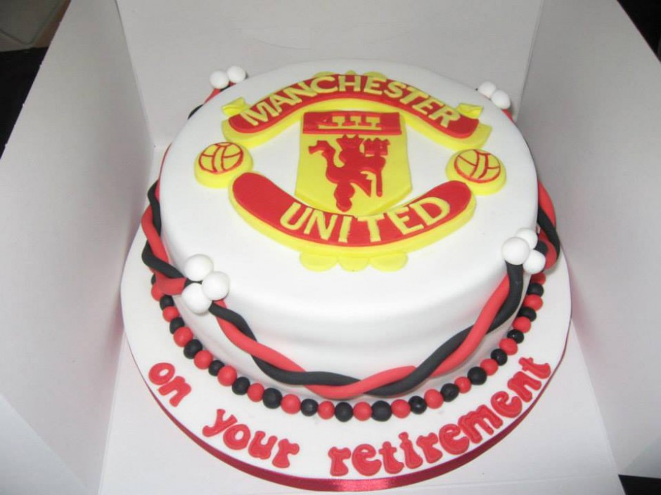 Manchester United Retirement Cake Wicklow
