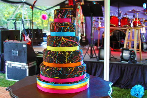 Neon Wedding Cake for inspiration