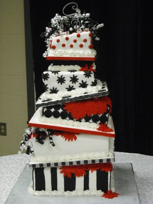 Offset Wedding Cake for inspiration