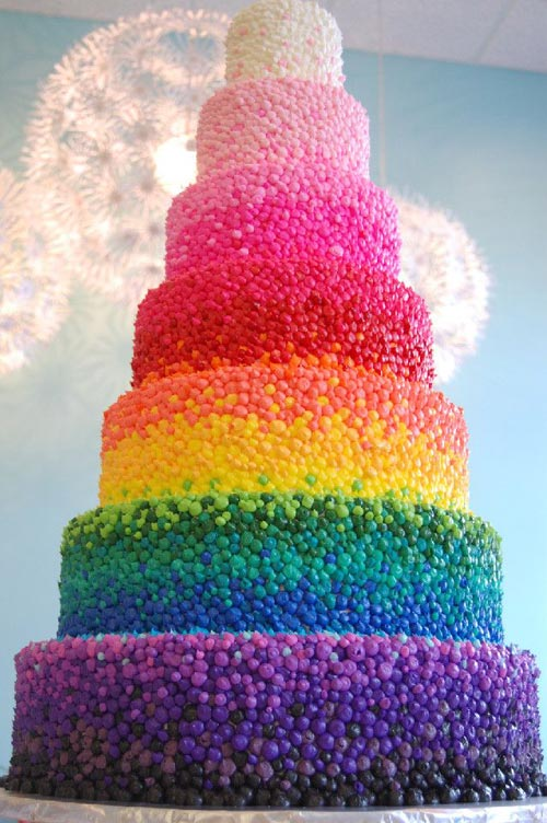 Rainbow Wedding Cake for inspiration
