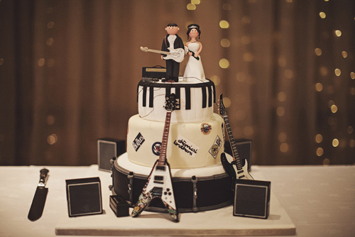 Rockin Wedding Cake for inspiration