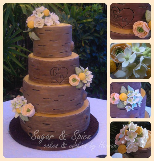 Rustic Wedding Cake for inspiration