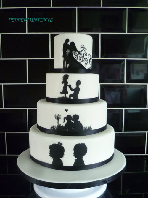 Silhouette Wedding Cake for inspiration