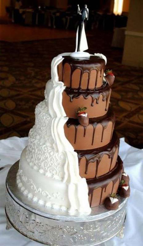 Two Toned Wedding Cake for inspiration