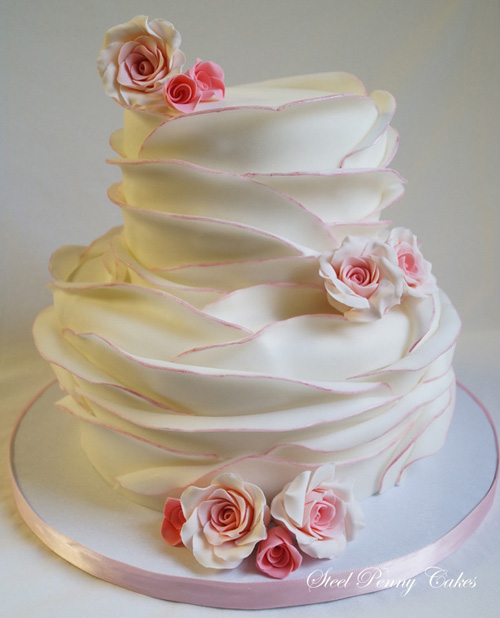 Wrapped Wedding Cake for inspiration